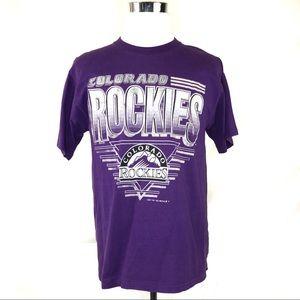 Colorado Rockies men's single stitch 1993 t shirt